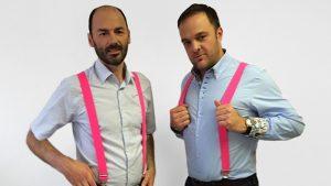 Mutige Mode: Andreas Schietz und Michael Hirschbrich, die beiden Gründer von Updatemi. © Updatemi