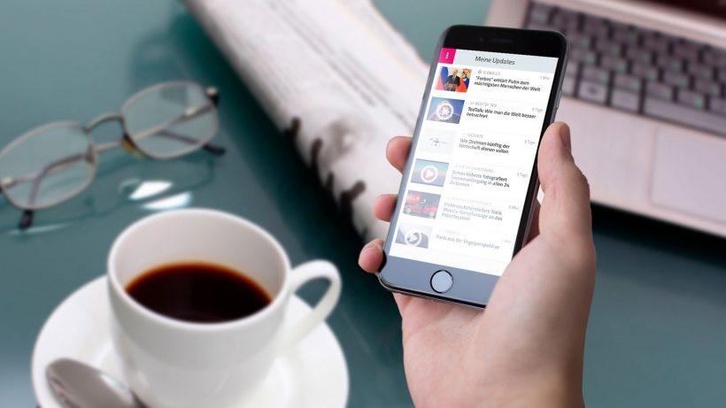 Die Updatemi-App informiert zum Beispiel am Morgen. © Updatemi