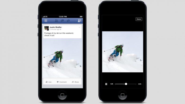 Nicht immer willkommen: Autoplay-Videos in der App. © Facebook
