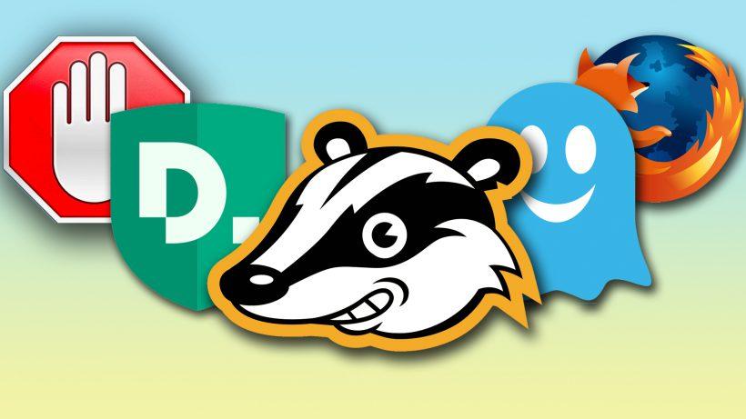Sehen sich als Verteidiger der Privatsphäre: AdBlock, Disconnect, Privacy Badger, Ghostery und Firefox. © Hersteller