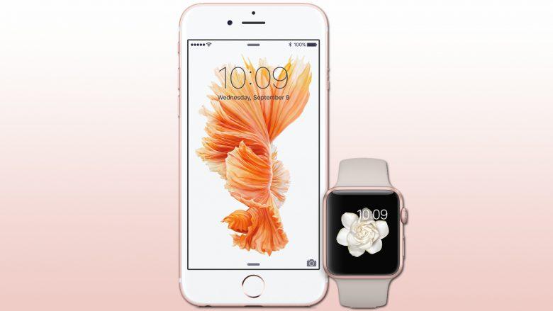 iPhone 6s und Apple Watch in Rosa, pardon, Roségold. © Apple