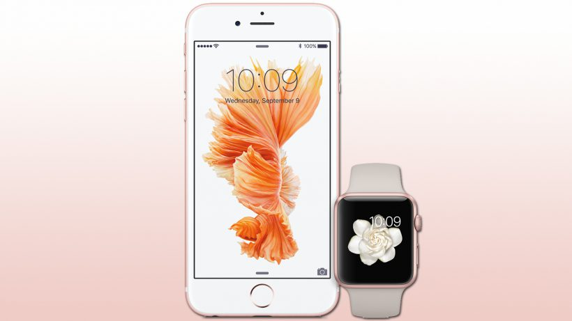 iPhone 6s und Apple Watch in Rosa, pardon, Roségold. © Apple