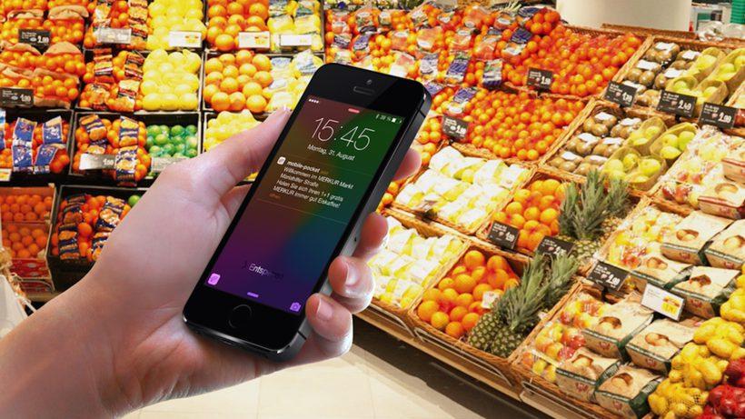 Kundenkarten-App mobile-pocket kommuniziert mit Beacons. © mobile-pocket