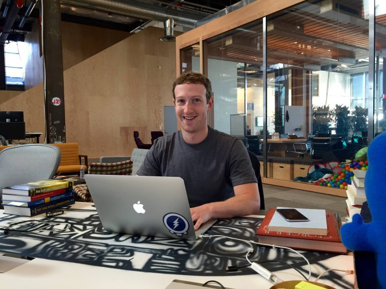 Mark Zuckerberg looking at - you.