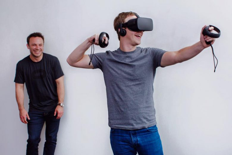 Mark Zuckrberg looking at virtual reality.