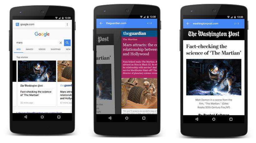 So sollen Artikel in der mobilen Google-Suche aussehen. © Google