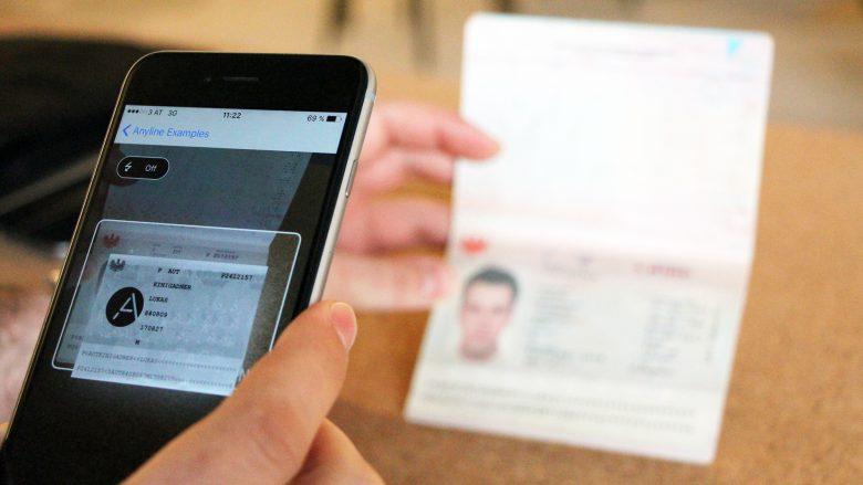 Anyline kann Daten aus Reisepässen auslesen. © Jakob Steinschaden