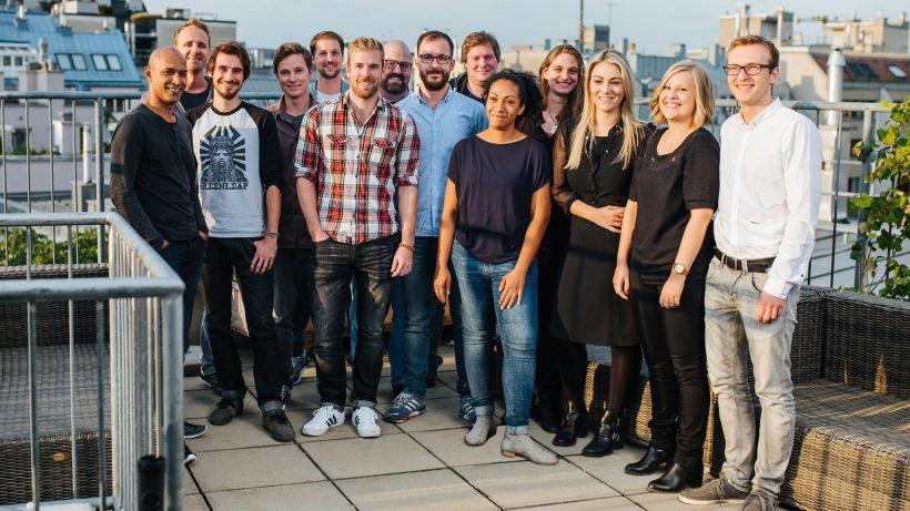 Über den Dächern Wiens: Das Team von Content Garden. © Content Garden