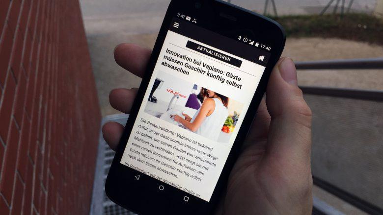 Gute Unterhaltung für draußen mit der Tagespresse-App. © Jakob Steinschaden