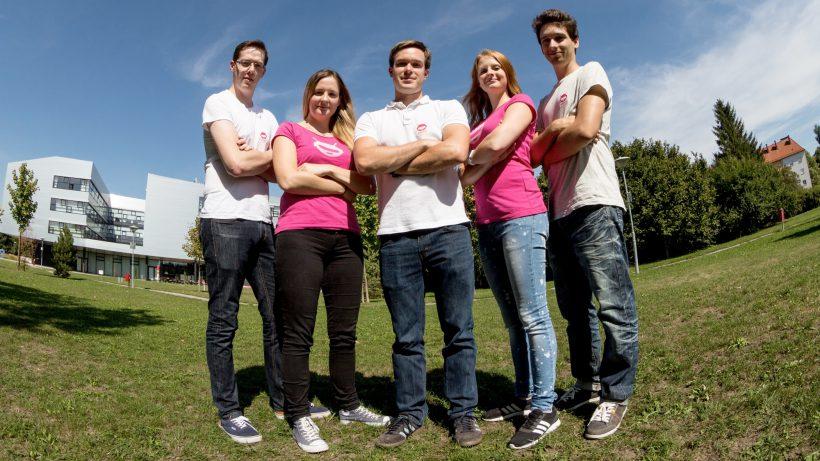 Das Gatherer-Team: DesiréZottl, Thomas Ederer, Michael Kraftner, Aleksandar Palic und Carina Skladal. © Gatherer