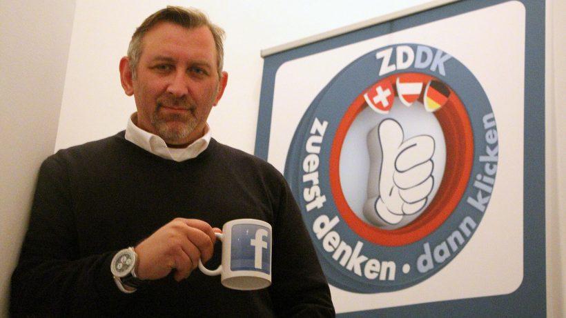 Tom Wannenmacher, der Gründer von Mimikama.at und ZDDK.eu. © Jakob Steinschaden
