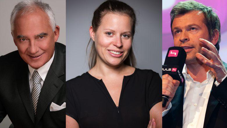 Rudi Semrad, Katharina Klausberger und Markus Breitenecker als Jury. © ProSiebenSat.1 Puls 4