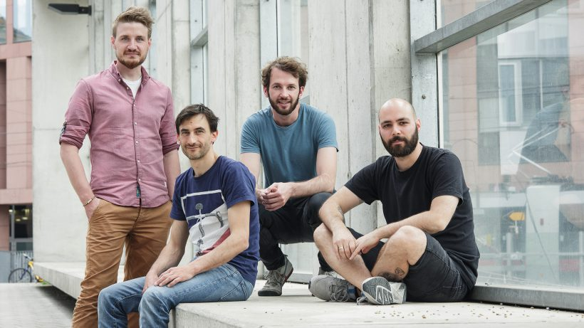 Valentin Schmiedleitner, Mathias Müller, Stefan Theißbacher und Andreas Förster. © Martin Pabis