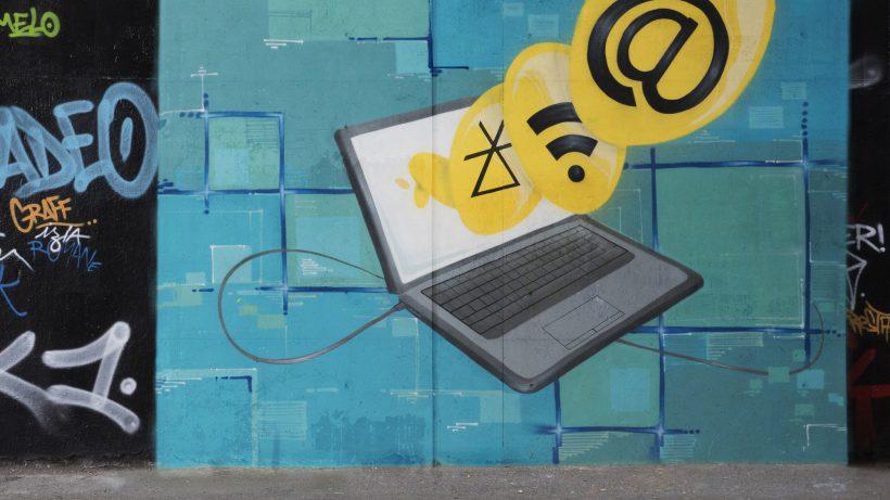 Graffiti im Auftrag der EU-Kommission soll Wichtigkeit eines einheitlichen digitalen Binnenmarktes unterstreichen. © European Union