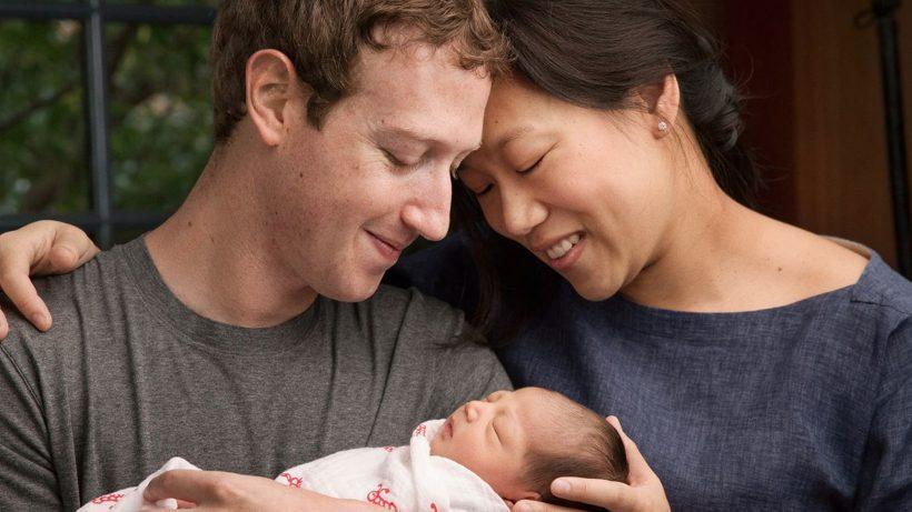 Glückliche Eltern und Philantropen: Mark Zuckerberg und Priscilla Chan mit Tochter Max. © Facebook