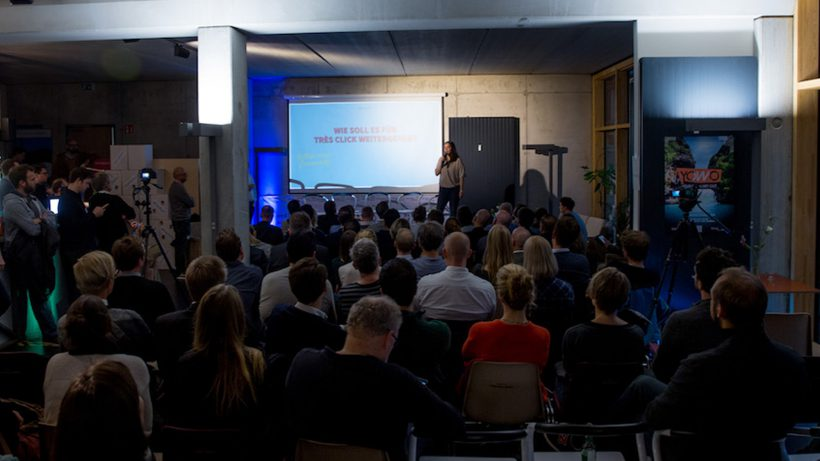 Am Demo Day des Next Media Accelerators. © NMA