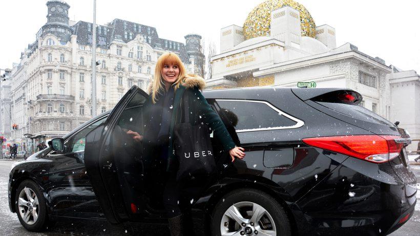Kommen auch bei Schneefall: Uber-Autos in Wien. © Uber Vienna