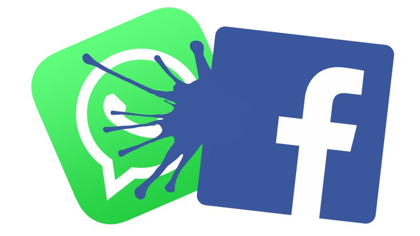 Facebook schwappt auf WhatsApp über. © Facebook, Montage TrendingTopics.at