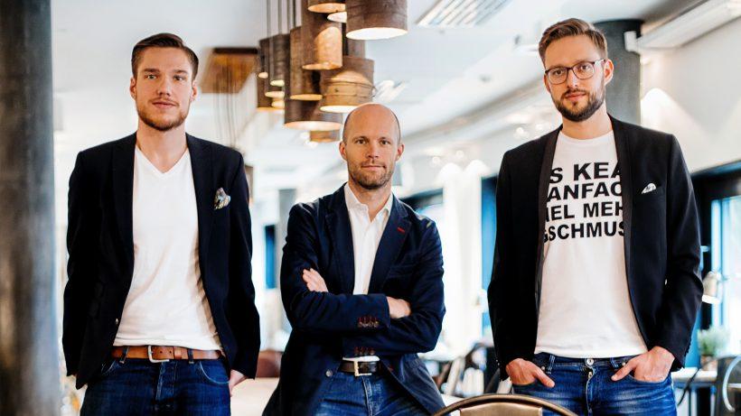 Arnim Wahls (CEO), Matthias Wolf (COO) und Daniel Winter (CTO). © David Faber