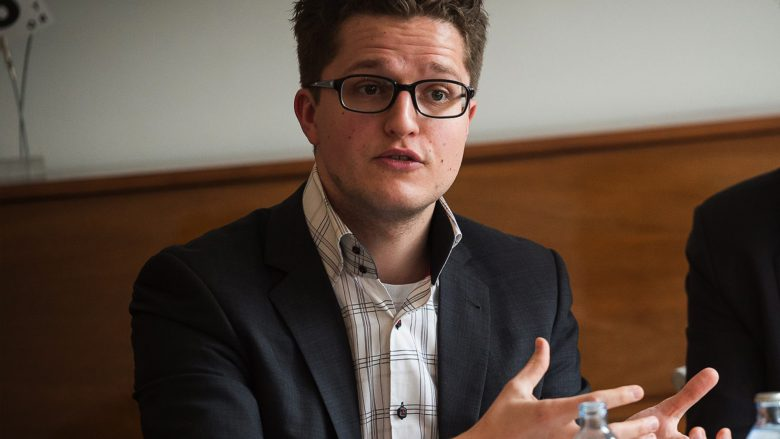 Christoph Jeschke beim Diskutieren. © Wirtschaftsagentur