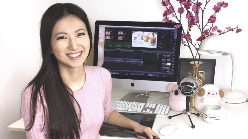 Joanna Zhou an ihrem Arbeitsplatz. © Joanna Zhou