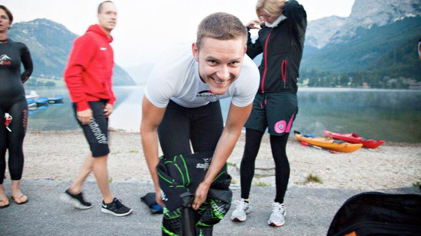 Thomas Krügerl bei Sporteln. © Social Friends