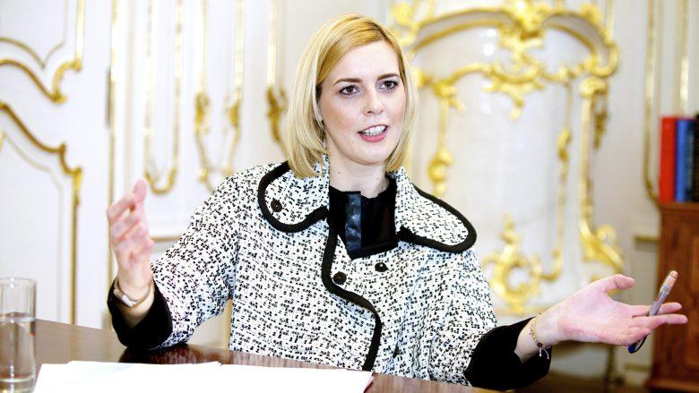 Staatssekretärin Sonja Stessl (SP) in ihrem Büro am Ballhausplatz. © Elisabeth Kessler