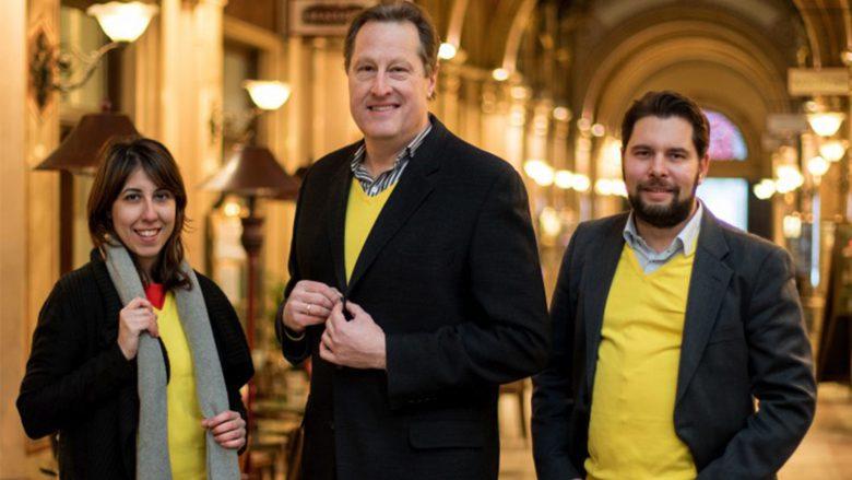 Scott Fertig (Mitte) mit seinen Mitgründern Philipp Etzlinger und Francesca Sannazzaro. © uugot.it