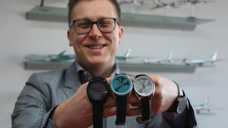 What? Watches-CEO Igor Basargin mit der neuen Calendar-Kollektion. © Jakob Steinschaden