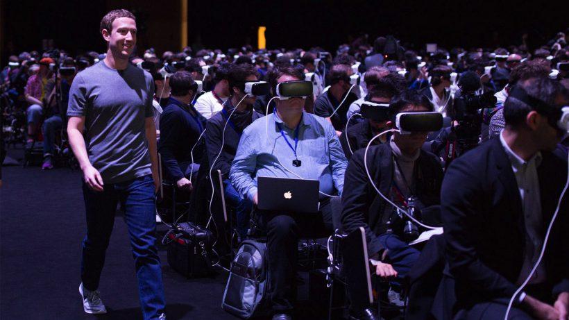 Sehen und (nicht) gesehen werden: Mark Zuckerberg am Mobile World Congress. © Facebook