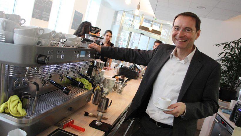 Bretschkos neue Passion: Kaffee. © Jakob Steinschaden