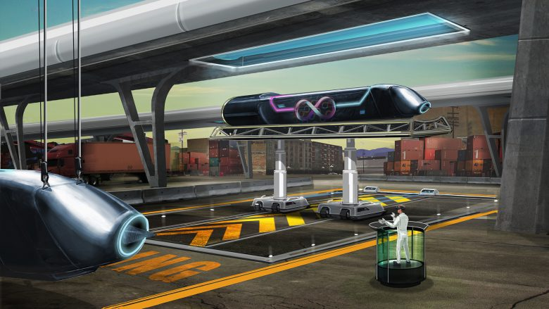 Noch nur ein Mock-up. © Hyperloop Technologies