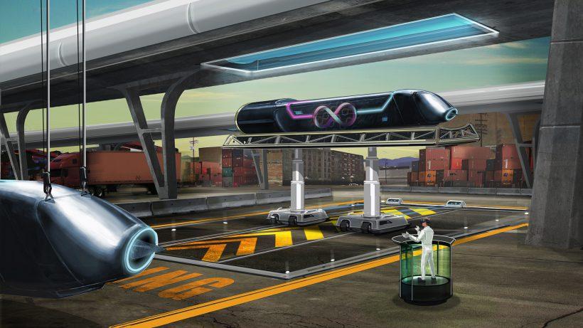 Ein Konzept für einen Hyperloop von HTI, einer Konkurrenz von Virgin Hyperloop. © Hyperloop Technologies