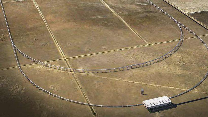 Die (noch zu bauende) Teststrecke von Hyperloop Transportation Technologies. © HTT