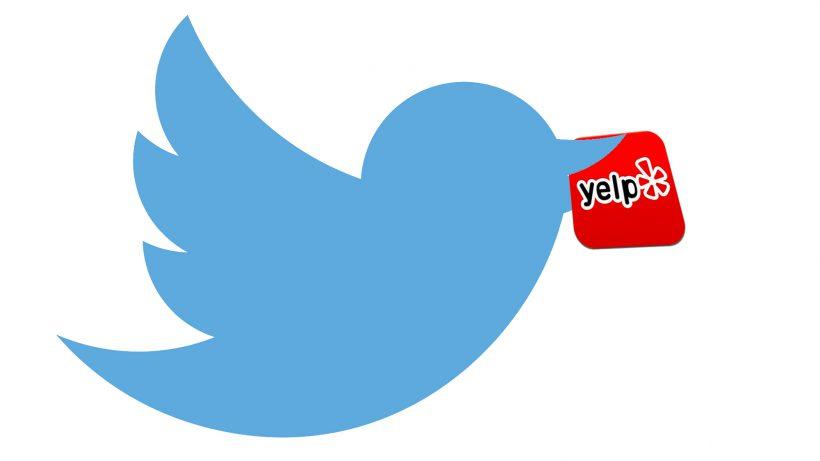 Kommt eine Location geflogen. © Twitter, Yelp, Montage TrendingTopics.at