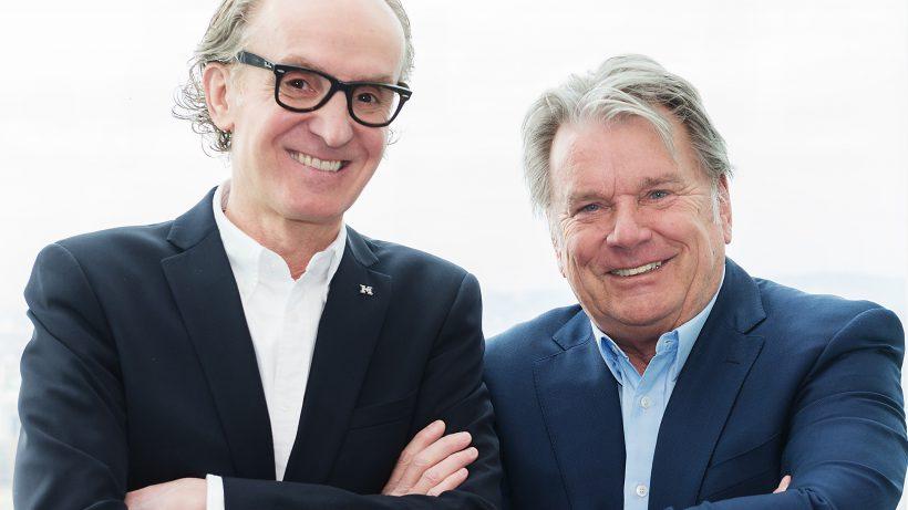 Peter Grundmann und sein neuer Geldgeber Hans Peter Haselsteiner. © Hearonymus