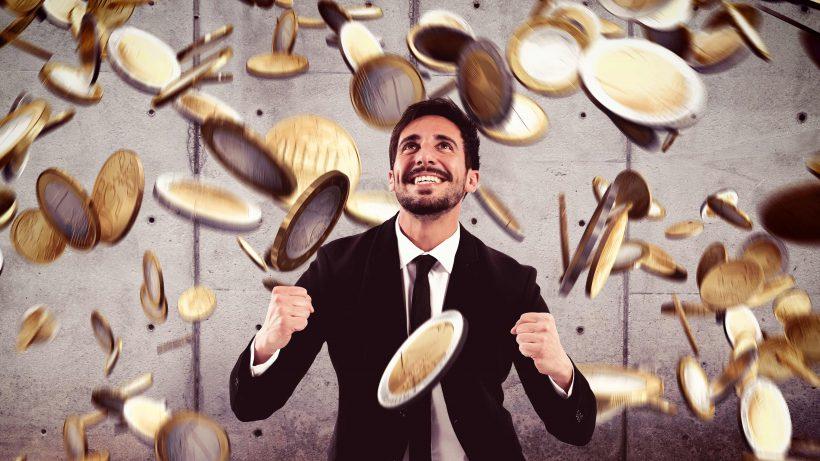 Viel Freude bei Gründern über den Geldregen. © Fotolia/alphaspirit