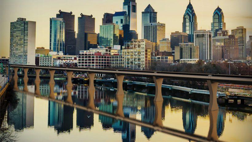 Noch ein Mock-up: Der Hyperloop in Philadelphia. © HTT