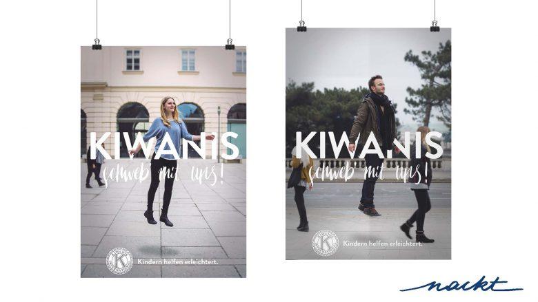 Plakate für Kiwanis von der Agentur NACKT. © Werbe Akademie