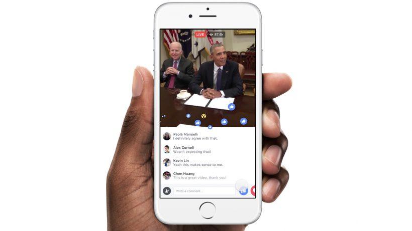Obama im Live-Stream, Nutzer schicken Likes. ©Facebook