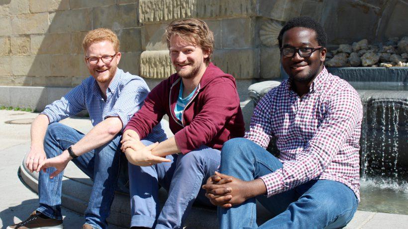 Das Playbrush-Team: Matthäus Ittner, Paul Varga und Tolulope Ogunsina. © Playbrush
