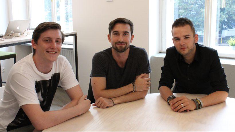 Das Gründer-Team: Jacob Wagner, Dominik Beron und Christoph Hauer. © RefugeesWork.at