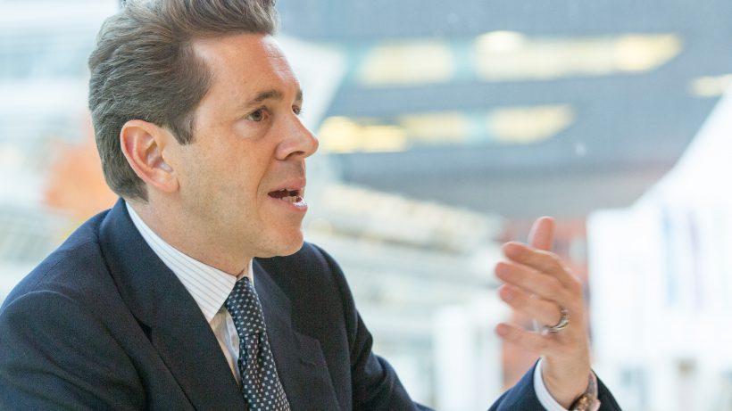 Staatssekretär Harald Mahrer im Gespräch. © photonews.at/georges schneider