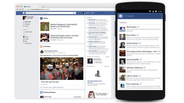 """Die """"Trending Topics"""" sind derzeit nur auf Englisch verfügbar. © Facebook"""