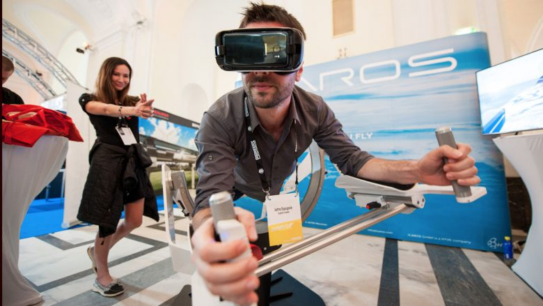 """Das Münchner Start-up Icaros lässt Nutzer per Virtual Reality """"fliegen"""". © Pioneers.io"""