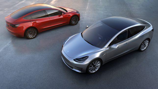 Das heiß ersehnte Model 3 von Tesla. © Tesla Motors