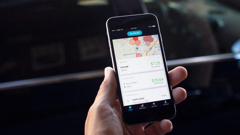 Das Smartphone als Schlüssel zum gemieteten Auto. © Uber