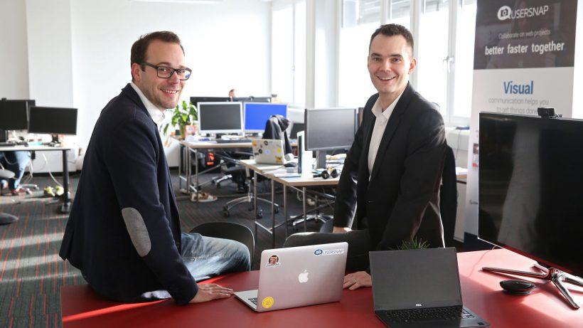 Josef Trauner und Florian Dorfbauer, die beiden Usersnap-Gründer. © Usersnap