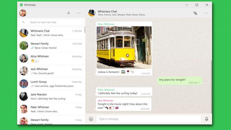WhatsApp am Desktop.