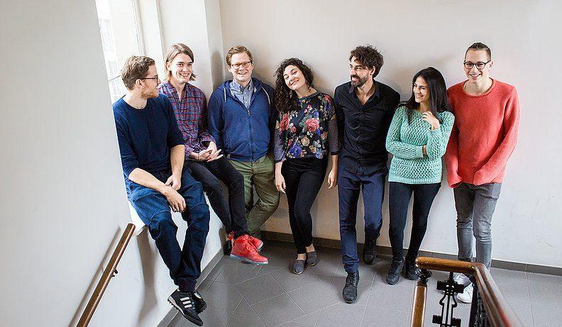 Das Team (vlnr.): Leo Widrich, Jan Jedlinski, Michael Ströck, Stephanie Cox, Sven Wuttej, Dana Maleh, Daniel Kalkhofer. © Chancen:reich